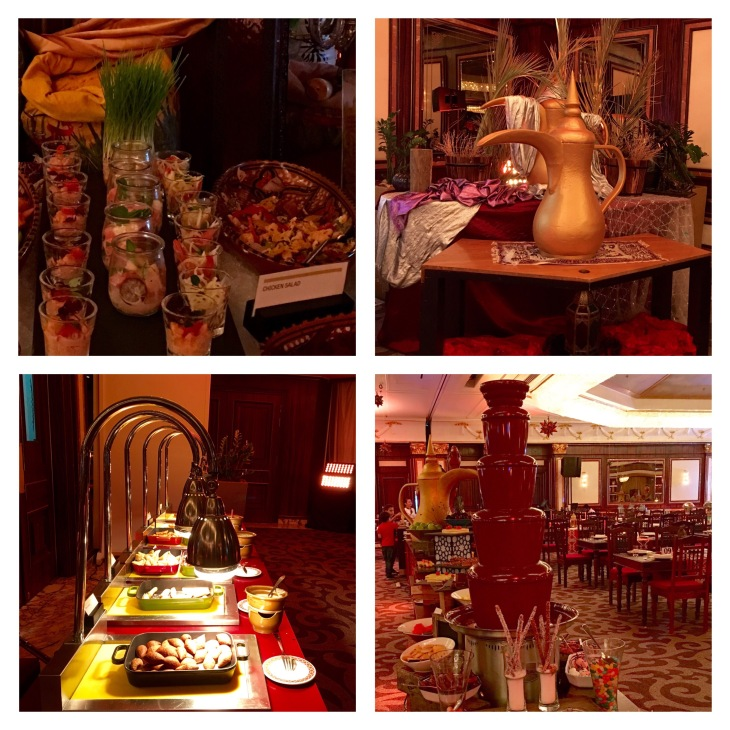 Iftar Buffet,Salads, Mains, Chocolate fountain
