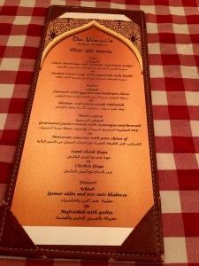 Iftar Set Menu,Italian themed Iftar
