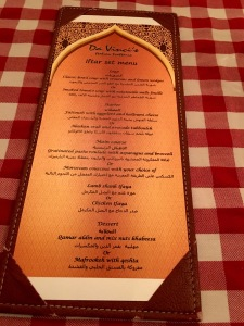 Iftar Set Menu,Italian themed Iftar