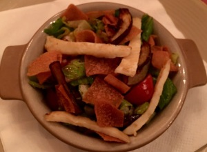 Fattoush,Grilled Halloumi cheese,Arabic salad