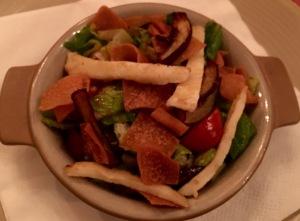Fattoush,Grilled Halloumi cheese,Arabic salad
