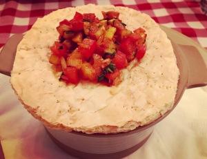 Smoked Tomato soup,Ratatouille, Mille Feuille