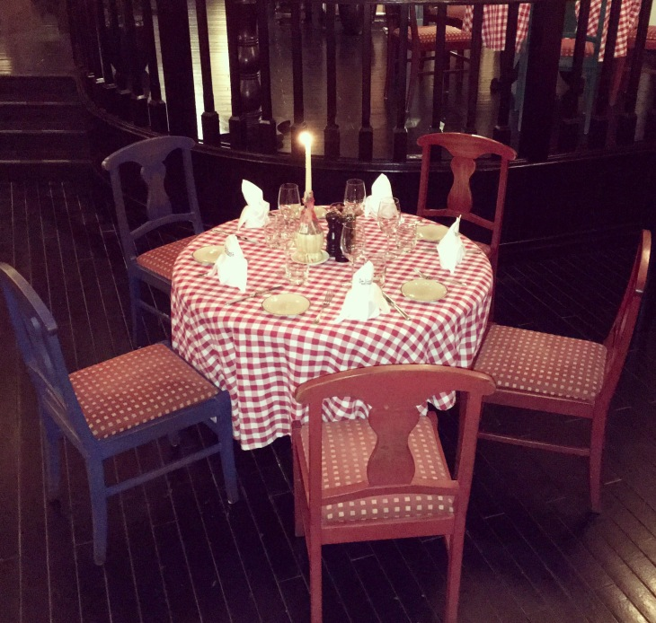 Beautiful set up, Trattoria style,Italian restaurant