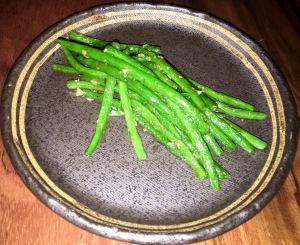 Ingen Itame,Green beans with garlic sauce