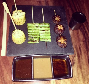 Grilled Skewers,Robata style of cooking