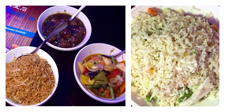 Vegetable Manchurian,Hunan Sauce,Garlic fried rice