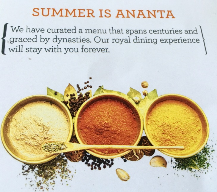 Authentic Indian Food,Summer Set Menu