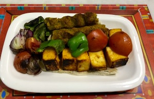 Vegetable Seekh Kabab,Paneer Tikka