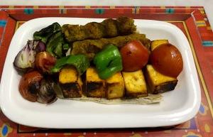 Vegetable Seekh Kabab,Paneer Tikka
