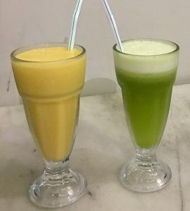 Mango Lassi,Fresh Kiwi Juice