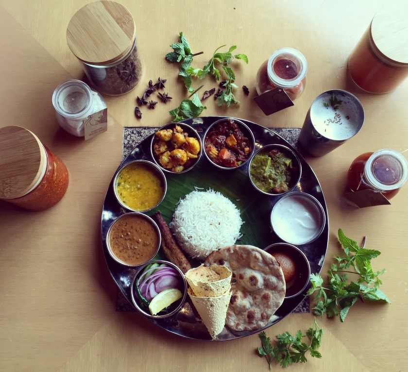 Indian Thali, Authentic North Indian Lunch