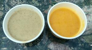 Mushroom soup,Pumpkin soup