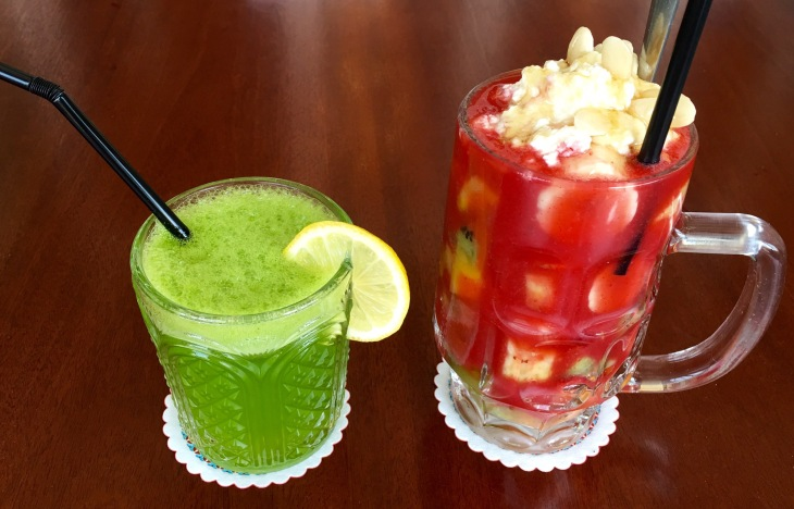Homemade Lemonade with basil