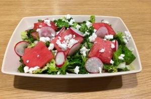 Aged feta watermelon salad