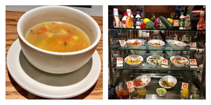 Soup and salad Station