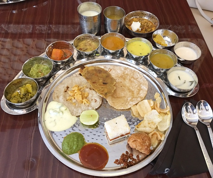 Vegetarian Thali in Dubai