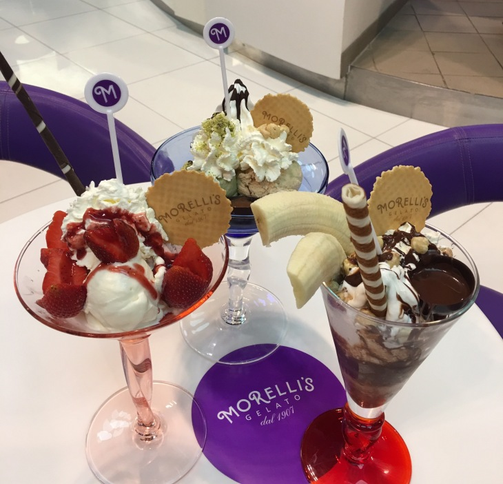 Sundaes from Morelli's