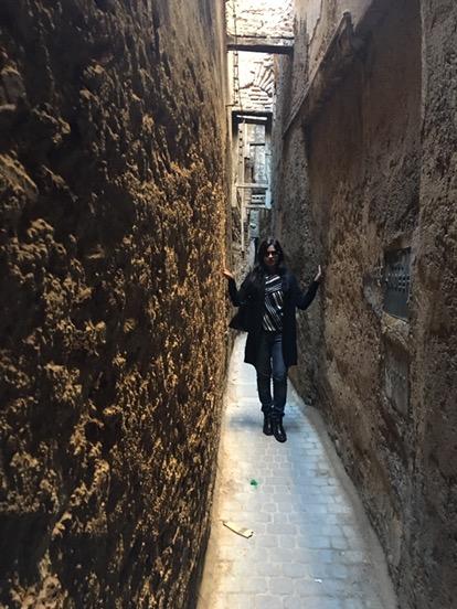 Narrow streets of Fez Medina