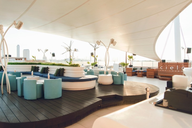 Terrace lounge in Dubai