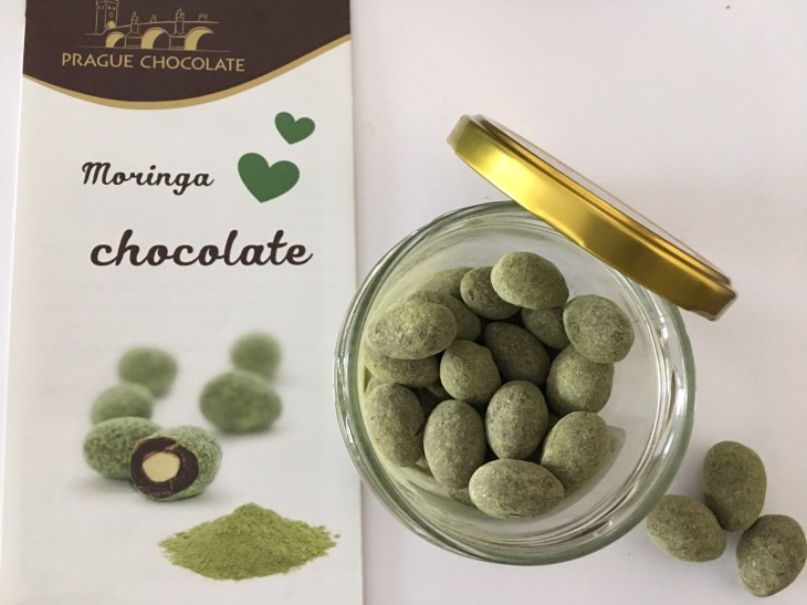 Moringa covered chocolate