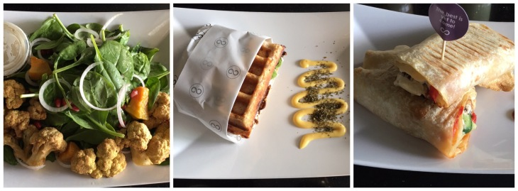 Savory waffle burger
