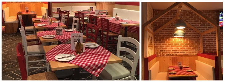 Trattoria style restaurant