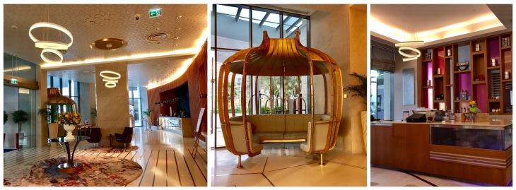 Lobby of Crowne Plaza Yas Island