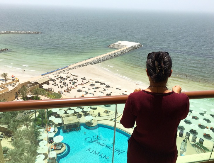 Infinity pool at Fairmont Ajman