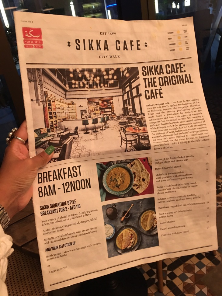 Sikka Cafe in City Walk Dubai