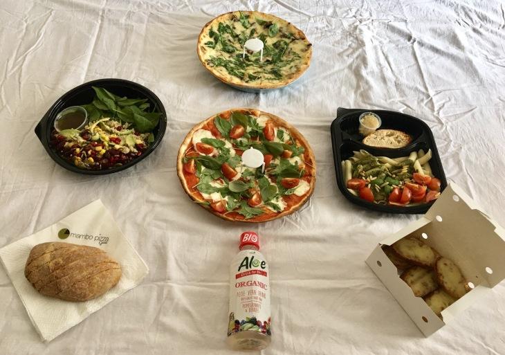 Burrata pizza