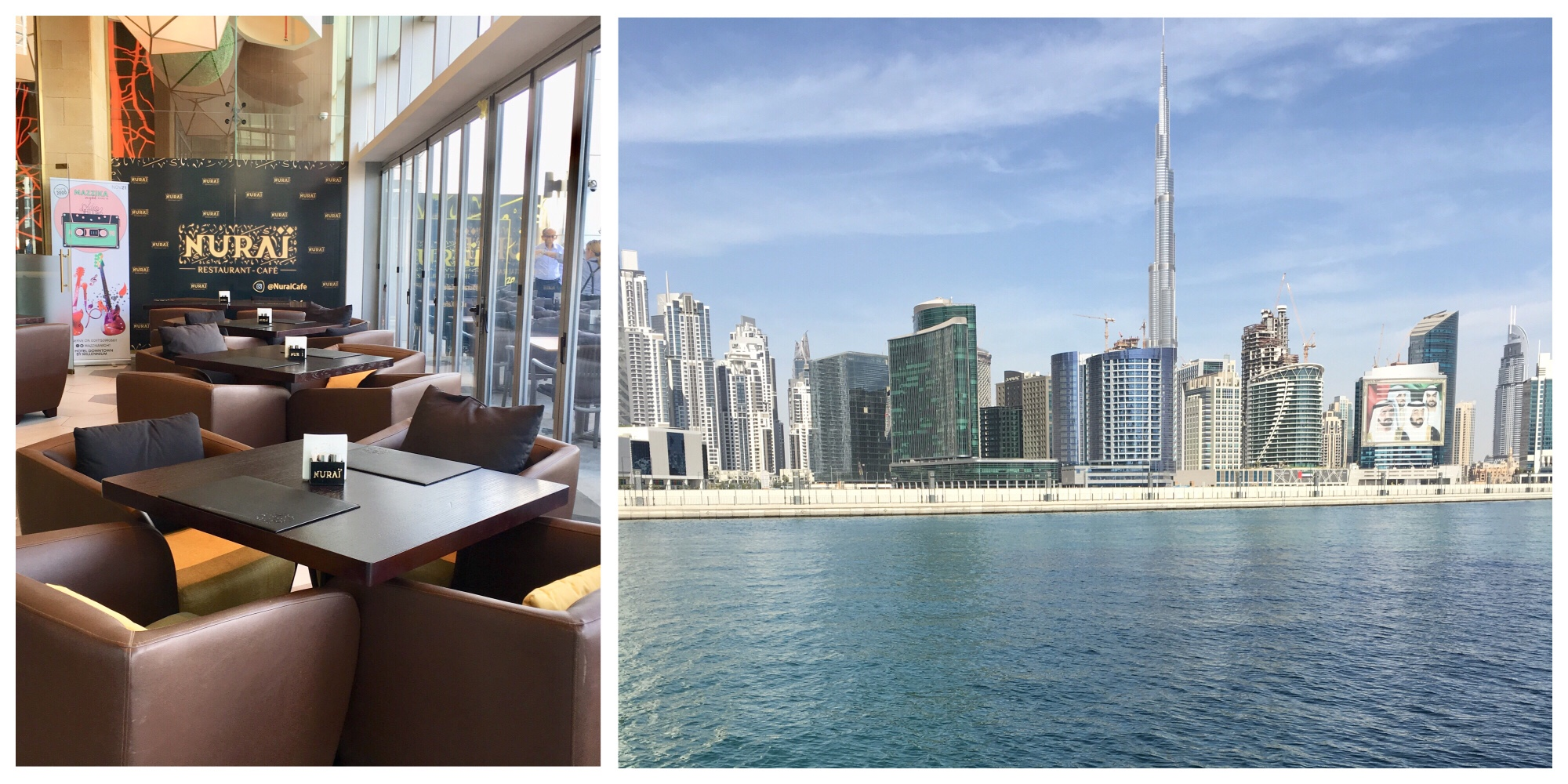 Burj view restaurants in Business Bay