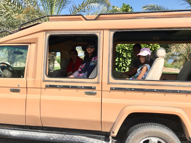Wildlife drive in Sir Bani Yas Island