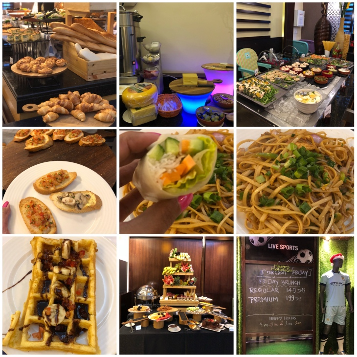 Friday brunch at the Huddle Sports Bar & Grill at Citymax Hotel