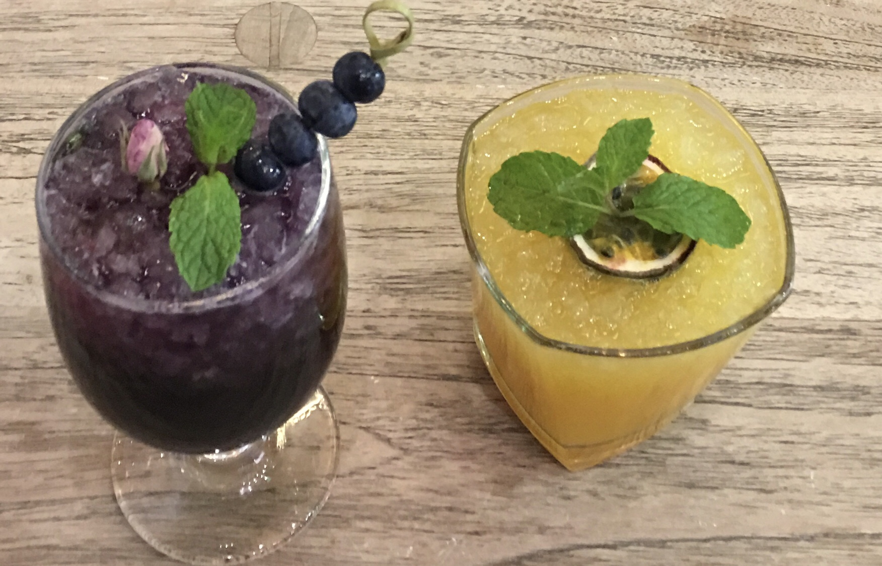 Blueberry Rose mocktail