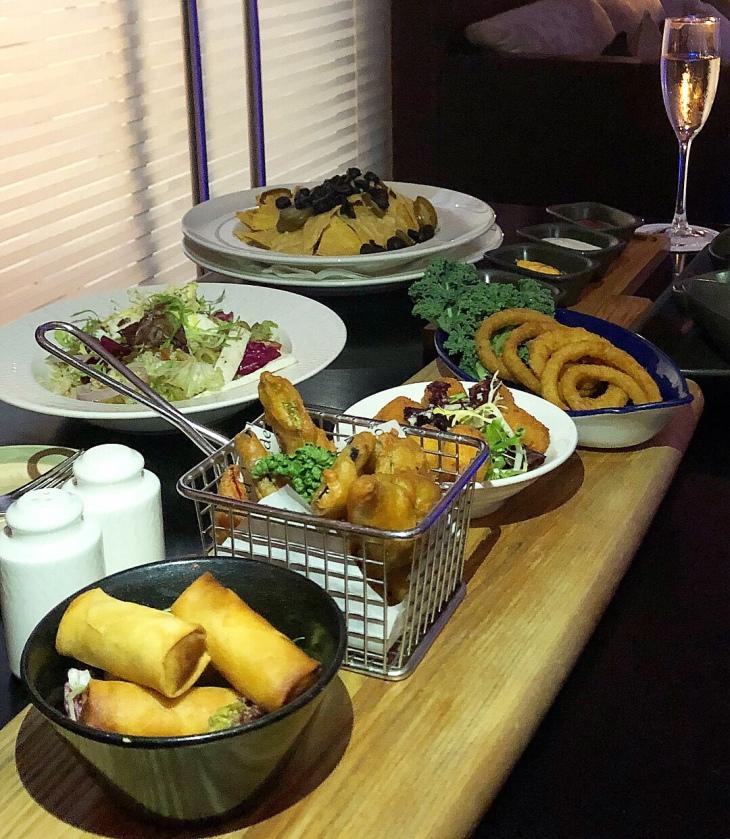 Food menu at Blue Bar Dubai