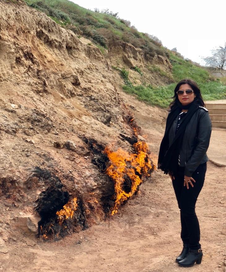 Fire mountain Azerbaijan