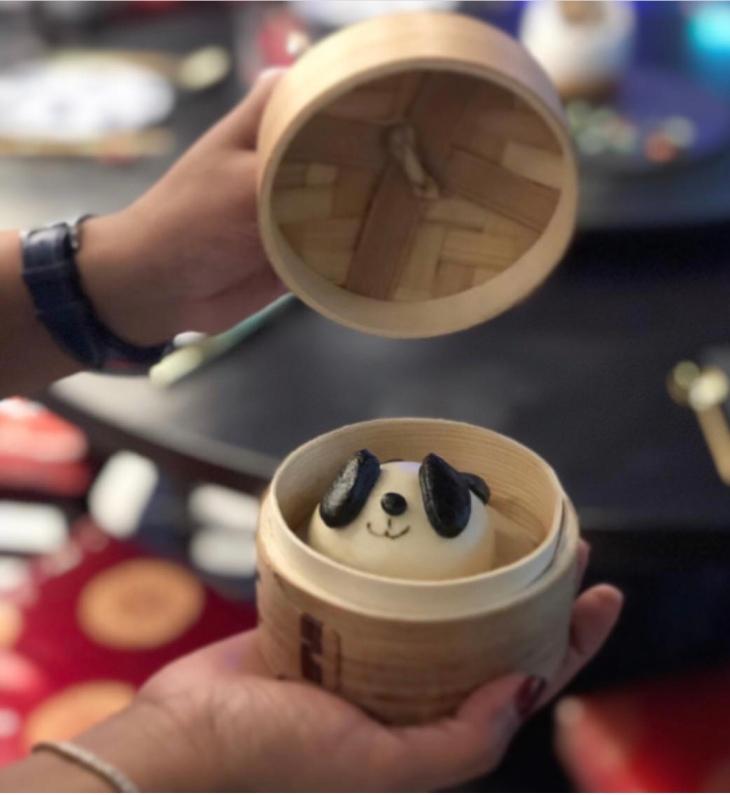 Panda sesame Bao