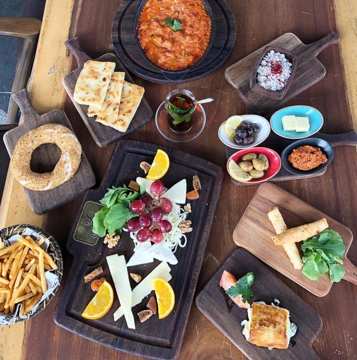 Turkish breakfast at Gurkan Sef
