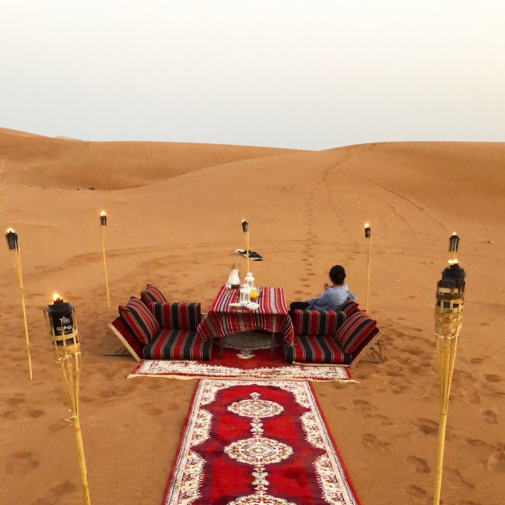 Private dinner in the desert experience