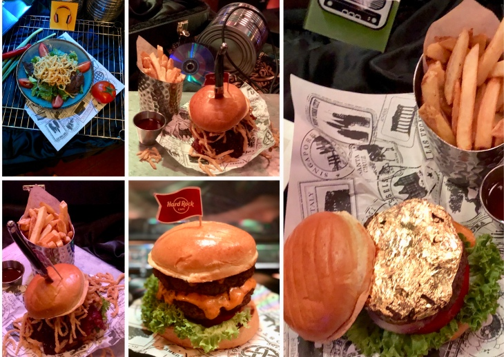 Vegetarian burger in Hard Rock Cafe