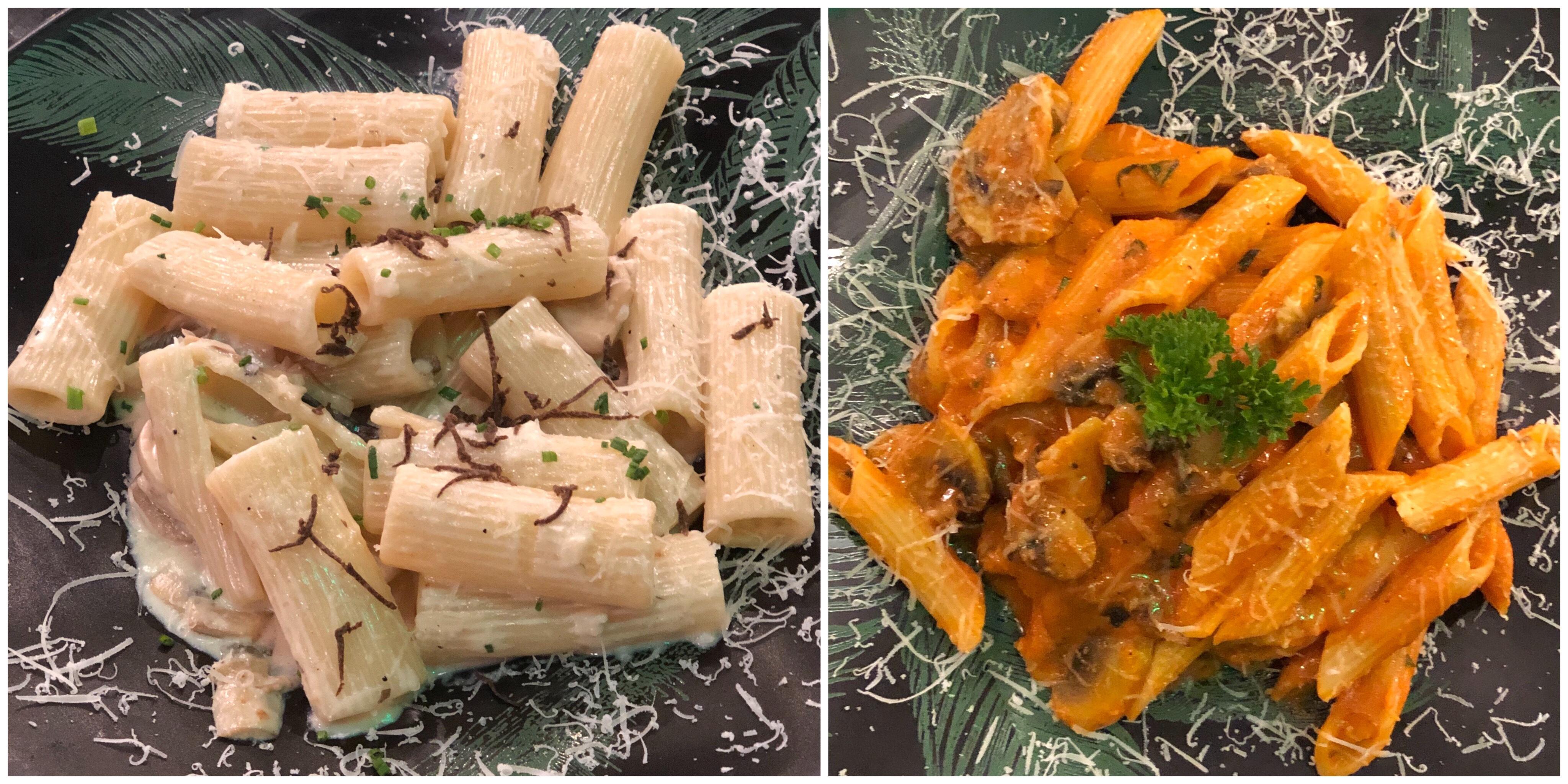 Truffle and mushroom pasta